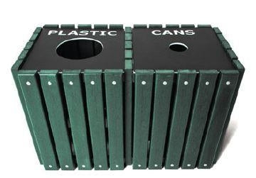 20 Gallon Recycled Cedar Trash Receptacle