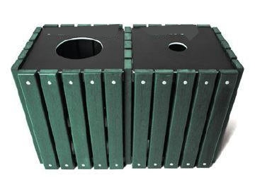 20 Gallon Recycled Green Trash Receptacle