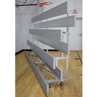 3-Row Low Rise Tip-N-Roll Aluminum Bleacher 21 Ft