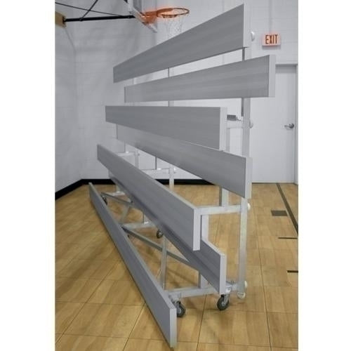 3-Row Low Rise Tip-N-Roll Aluminum Bleacher 27 Ft