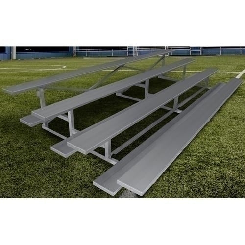 3-Row Low Rise Stationary Aluminum Bleacher Without Aisle 21 Ft