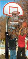4 1/2 Inch Heavy Duty Steel Fan Playground Basketball System