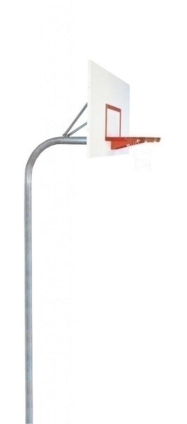 4 1/2 Inch Heavy Duty Steel Rectangle Playground Basketball System