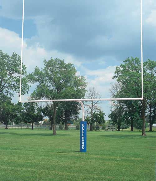 4 1/2 Inch Safety Yellow High School Football Goalposts