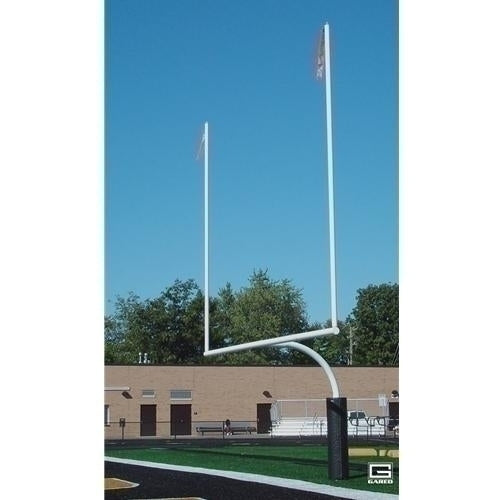 4-1/2inch O.D. High School Football Goalposts Perm/sleeve Mount White