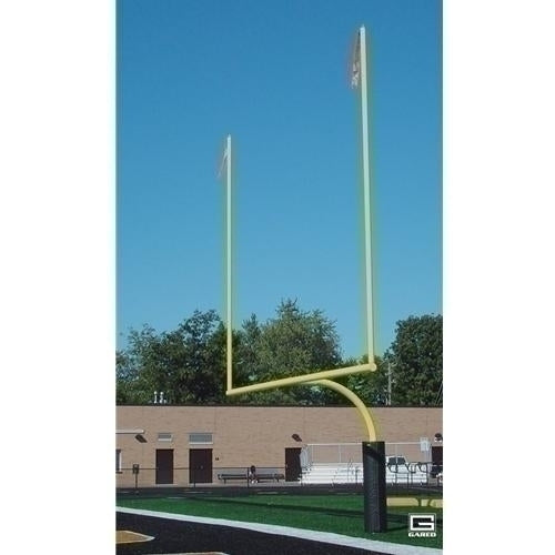 4-1/2inch O.D. High School Football Goalposts Perm/sleeve Mount Yellow