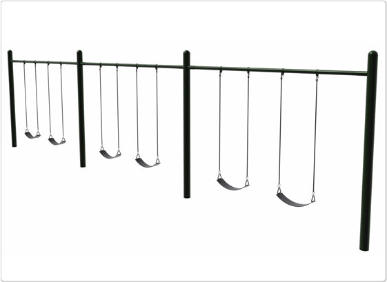 4.5 Inch OD Single Post Swing- 6 Seat
