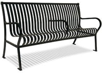 4 Feet Hamilton Bench With Back, Slat