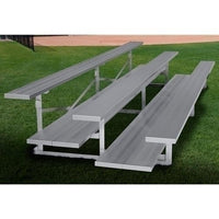 4-Row Low Rise Stationary Aluminum Bleacher Without Aisle With Double Foot Planks 21 Ft
