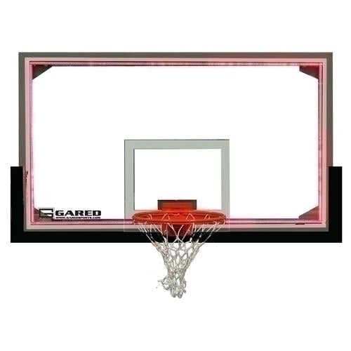 42inch X 72inch Regulation Glass Backboard With Steel Frame And LED Light System