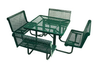46 Inch Octagon Table With 36 Inch Capri Seats, Perforated
