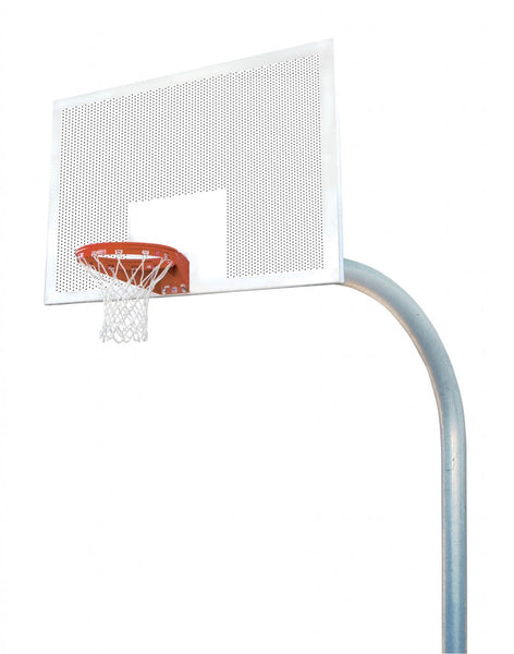 "5 9/16"" X 8' Mega Duty 42"" X 72"" Perforated Steel Playground Basketball System"