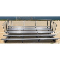 5-Row Stationary Aluminum Bleacher without Aisle 15 ft