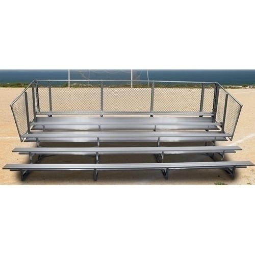 5-Row Stationary Aluminum Bleacher without Aisle 21 ft