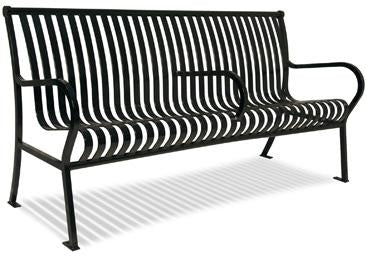 6 Feet Hamilton Bench With Back, Slat