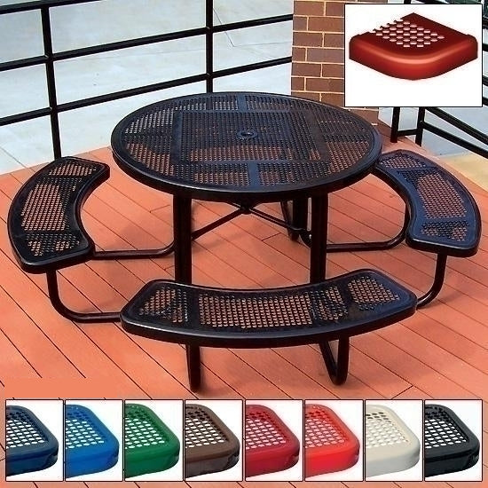 Ada Square Table Perforated 3 Seat 46 Inch