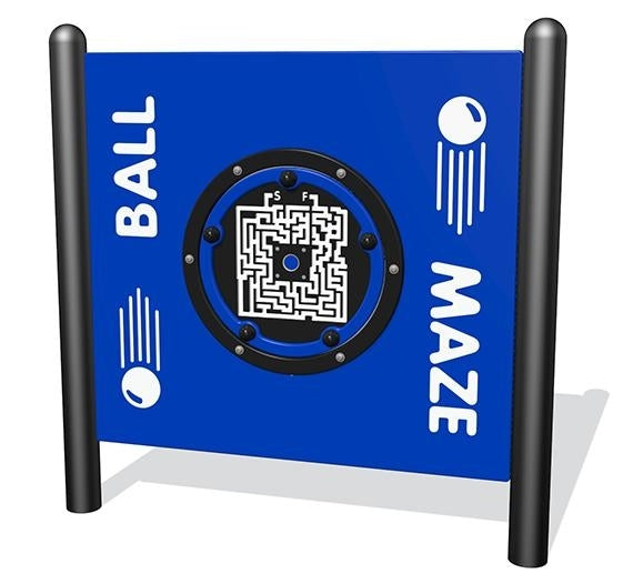 Ball Maze, Freestanding, Plastic In Standard Color