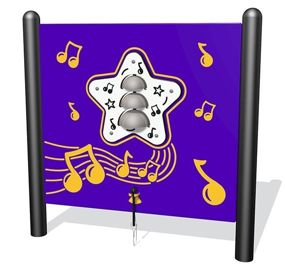 Bells Musical Play, Freestanding; Plastic In Standard Color
