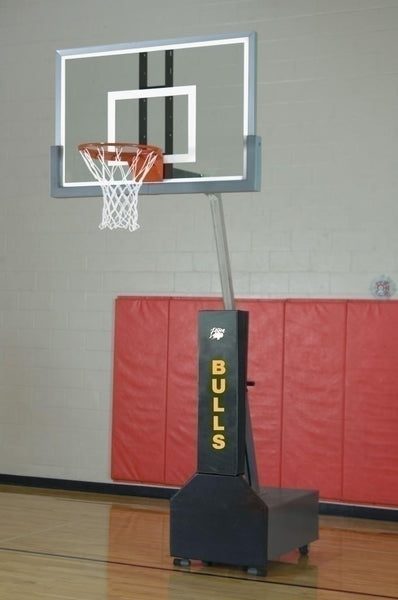 Club Court Super Glass Portable Adjustable Basketball System