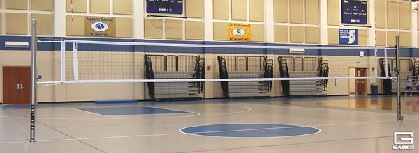 Collegiate One-Court Volleyball System, Less Floor Sleeves and Covers