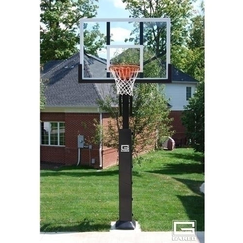 Collegiate Jam Adjustable Basketball System With 5inch Post And 60inch Acrylic Board