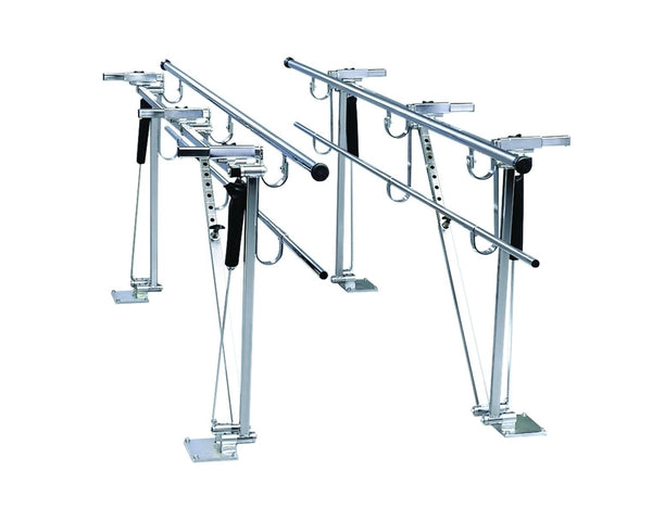 Deluxe Height/width Adjustable Floor Mount Parallel Bars, 10'