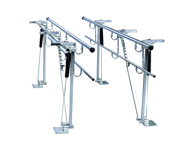 Deluxe Height/width Adjustable Floor Mount Parallel Bars, 12