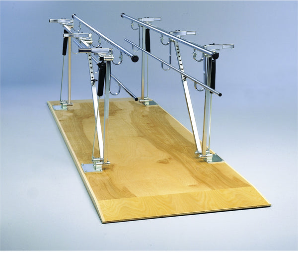 Deluxe Height/width Adjustable Parallel Bars Withplatform, 10'