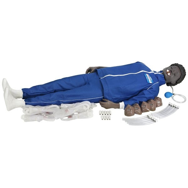 Full Body Adult Manikin With Electronic Connections (black)