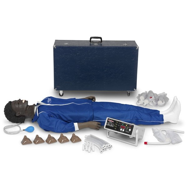 Full Body Adult Manikin With Memory And Printer (black)