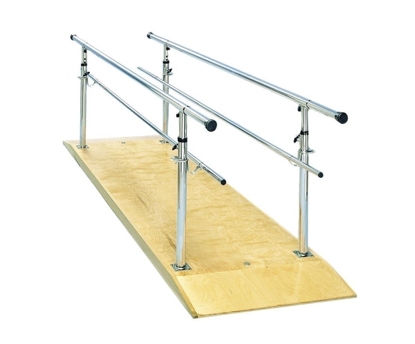 Height Adjustable Parallel Bars With Platform, 12'