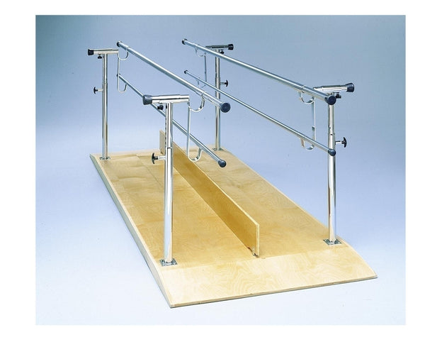 Height/width Adjustable Parallel Bars, 10' Length With Platform