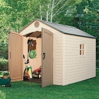 Lifetime Outdoor Storage Shed With Windows 8' X 10'