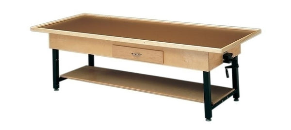 "Manual Hi-Lo Raised-Rim Treatment Table Withshelf And Drawer, 30"" X 78"""