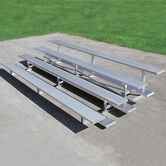 Low Rise Universal Bleachers With 10 Inch Seat 4 Rows 21'