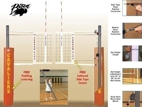 Match Point Aluminum Net System - With Floor Sockets