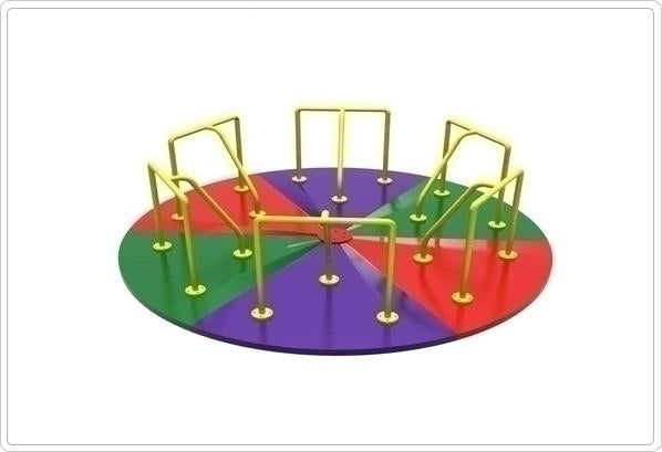 Merry-Go-Round- 10 Ft Multi Color