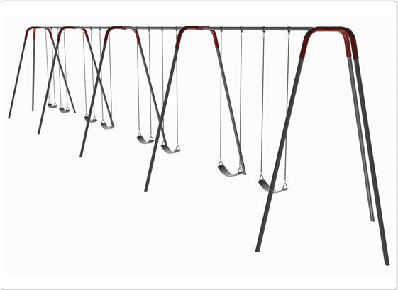 Modern Tripod Swing- 10 Foot, 8 Seat