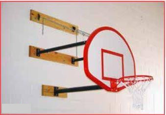 Three-Point Wall Mount Series 9-12feet Extension Rectangular Board For Adjust-A-Goal