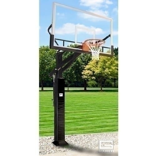 All Pro Jam Adjustable Basketball System With 6inch X 8inch Post And 72inch Glass Board