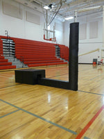 Qwikcourt Centerline Competition Portable Volleyball System. -Black Padding