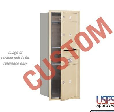 Recessed Mounted 4C Horizontal Mailbox - 3710S-CAFU