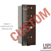 Recessed Mounted 4C Horizontal Mailbox - 3710S-CZFU