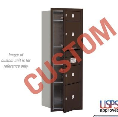 Recessed Mounted 4C Horizontal Mailbox - 3711S-CZFU
