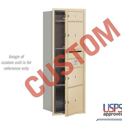 Recessed Mounted 4C Horizontal Mailbox - 3711S-CSFU