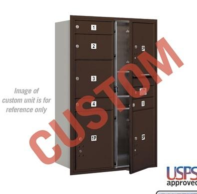 Recessed Mounted 4C Horizontal Mailbox - 3712D-CZFU