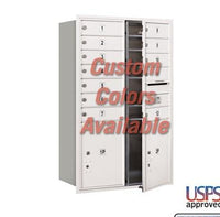 Recessed Mounted 4C Horizontal Mailbox - 3712D-12CFU