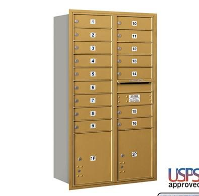 Recessed Mounted 4C Horizontal Mailbox - 3713D-16ARU