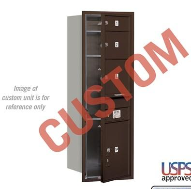 Recessed Mounted 4C Horizontal Mailbox - 3713S-CZFU