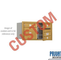 Recessed Mounted 4C Horizontal Mailbox - 3704D-CGFP